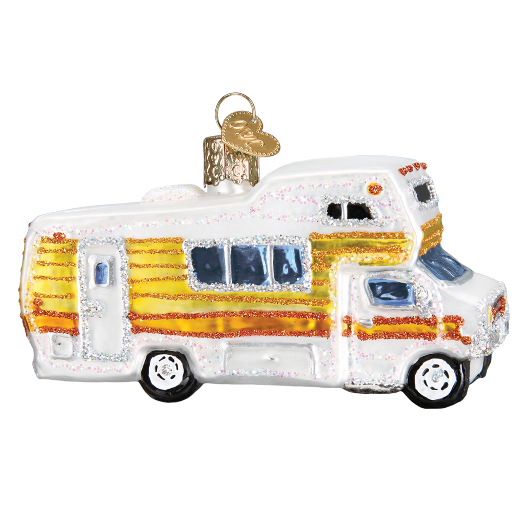 Ornament - Blown Glass - Classic Motorhome