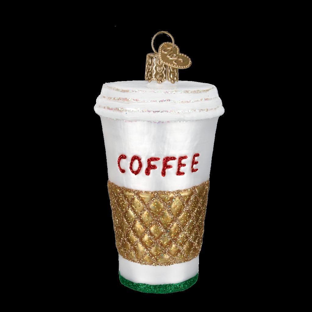 Ornament - Blown Glass - Coffee to Go