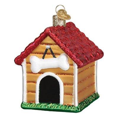 Ornament - Blown Glass - Dog House