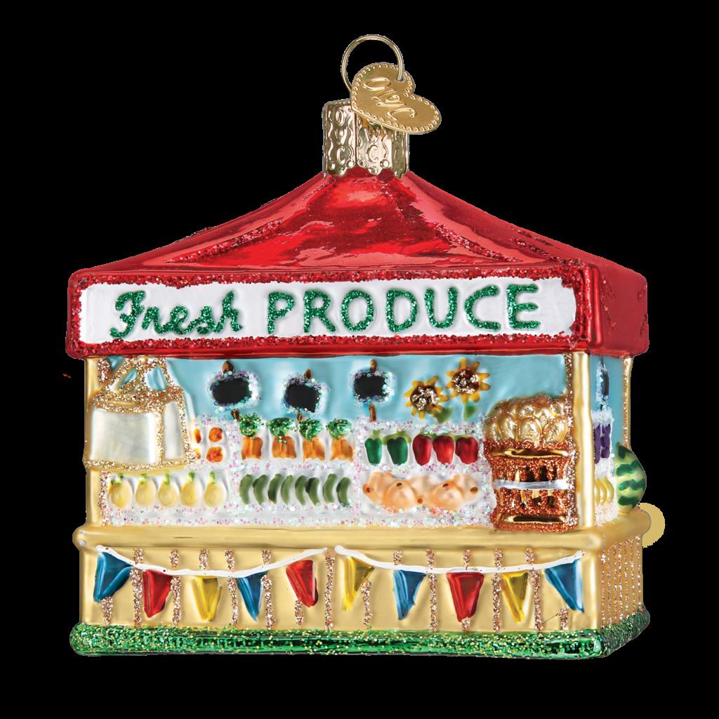 Ornament - Blown Glass - Farmers' Market Stand