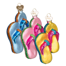 Ornament - Blown Glass - Flip Flops