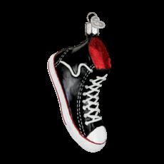Ornament - Blown Glass - High Top Sneaker