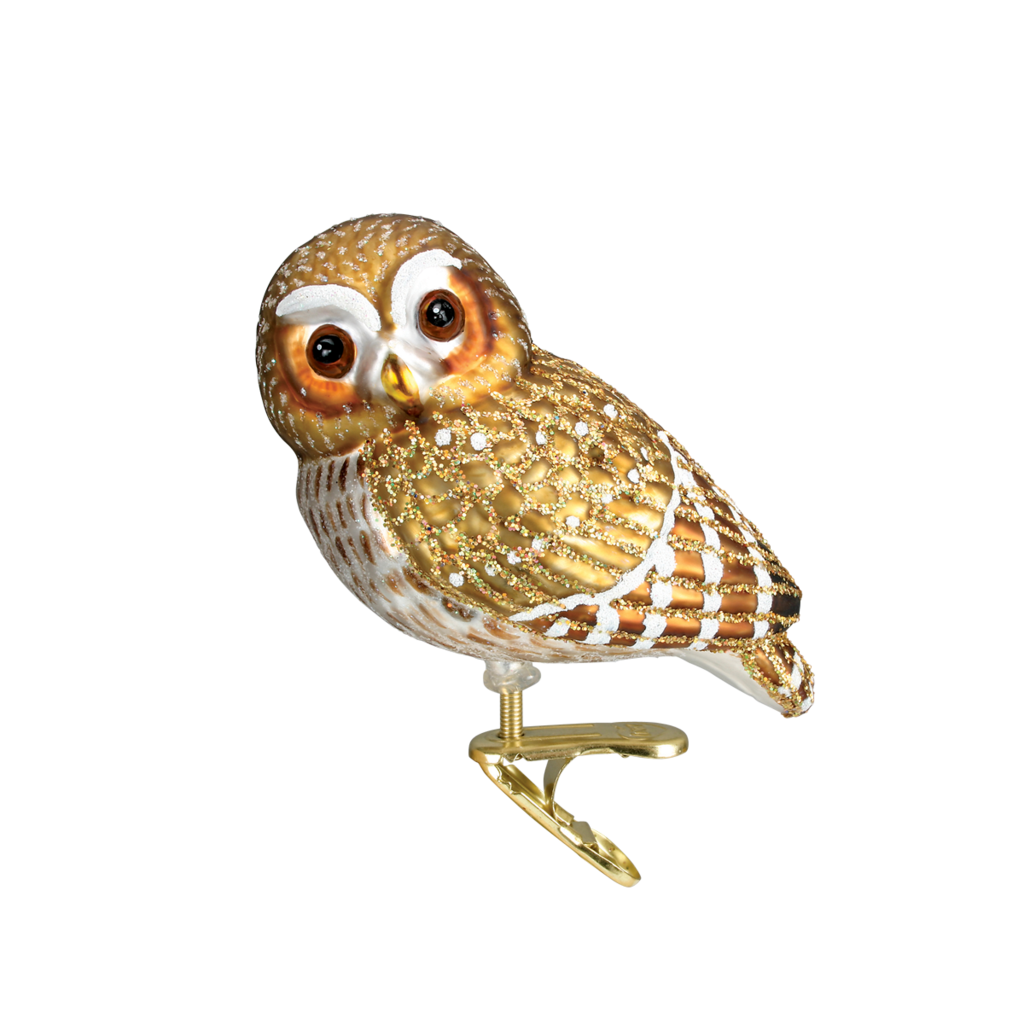 Ornament - Blown Glass - Pygmy Owl