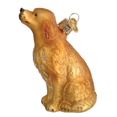 Ornament - Blown Glass - Sitting Golden