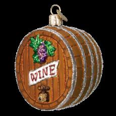 Ornament - Blown Glass - Wine Barrel