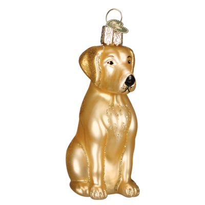 Ornament - Blown Glass - Yellow Labrador