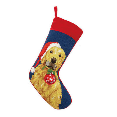 Stocking - Golden Retriever with Ornament