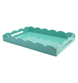 MH Tray - Scalloped Lacquered - Turquosie