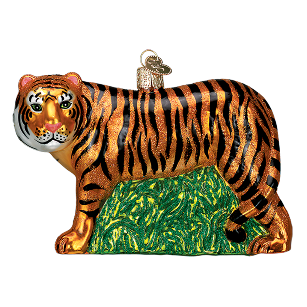 Ornament - Blown Glass - Tiger