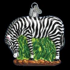 Ornament - Blown Glass - Zebra
