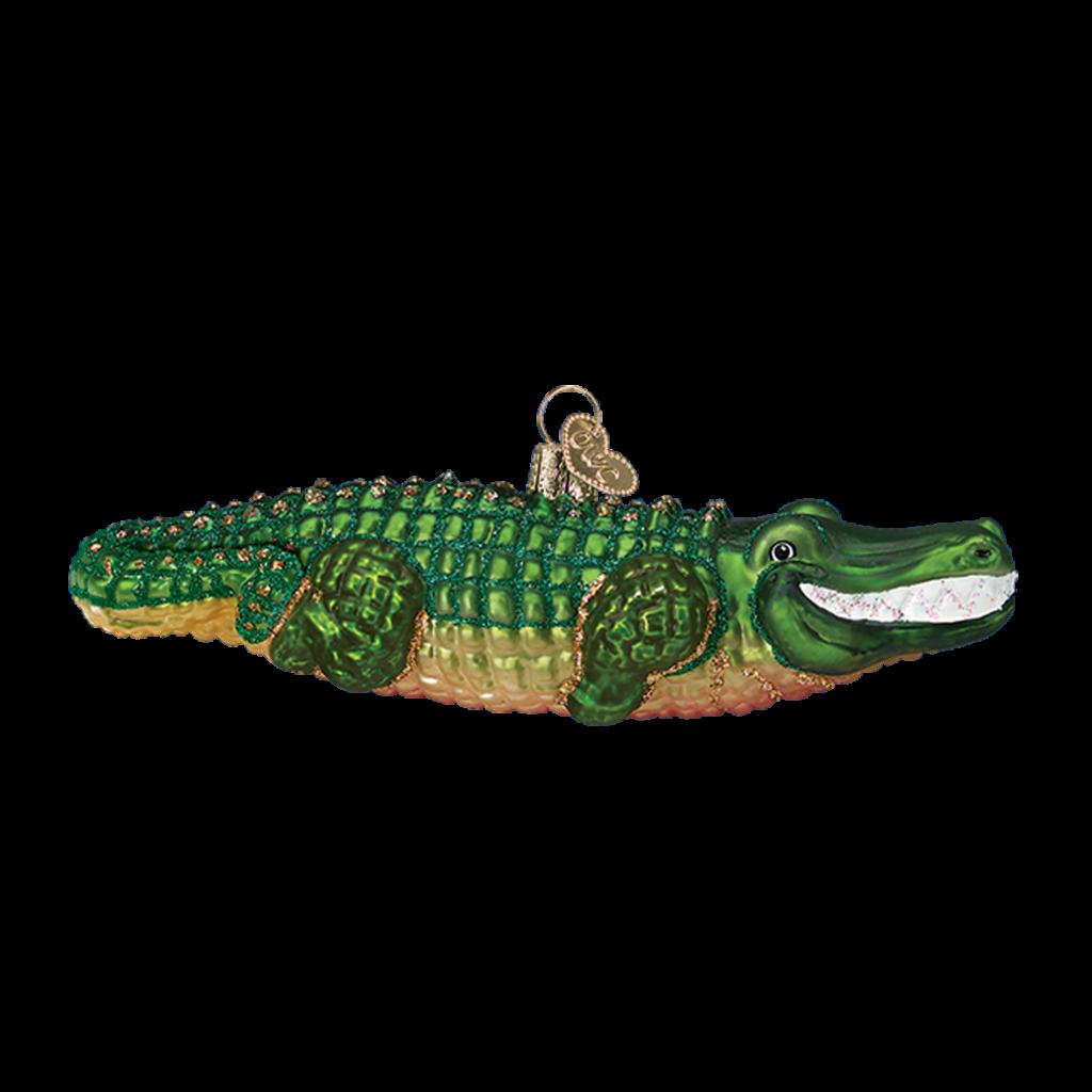 Ornament - Blown Glass - Alligator
