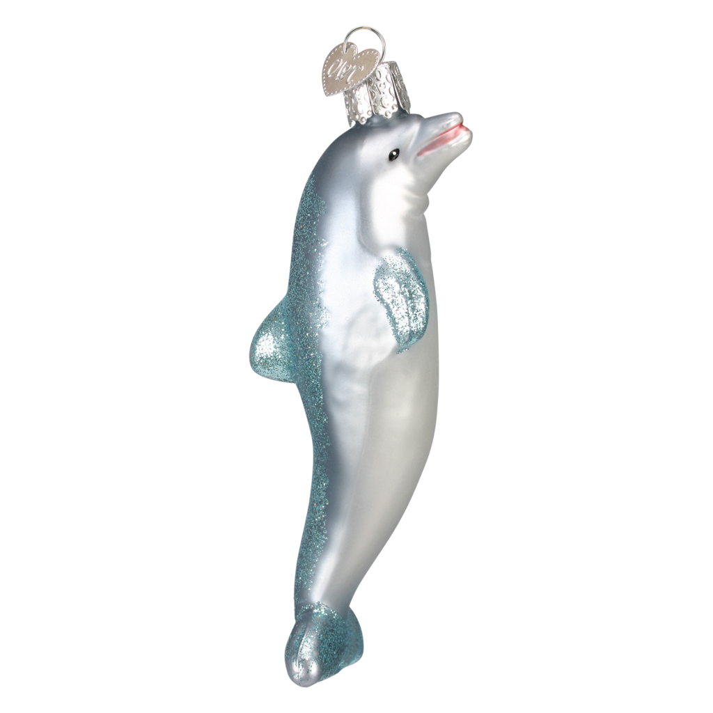 Ornament - Blown Glass - Playful Dolphin