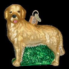 Ornament - Blown Glass - Golden Retriever