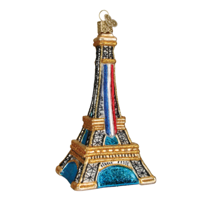 Ornament - Blown Glass - Cities -  Paris/Eiffel Tower
