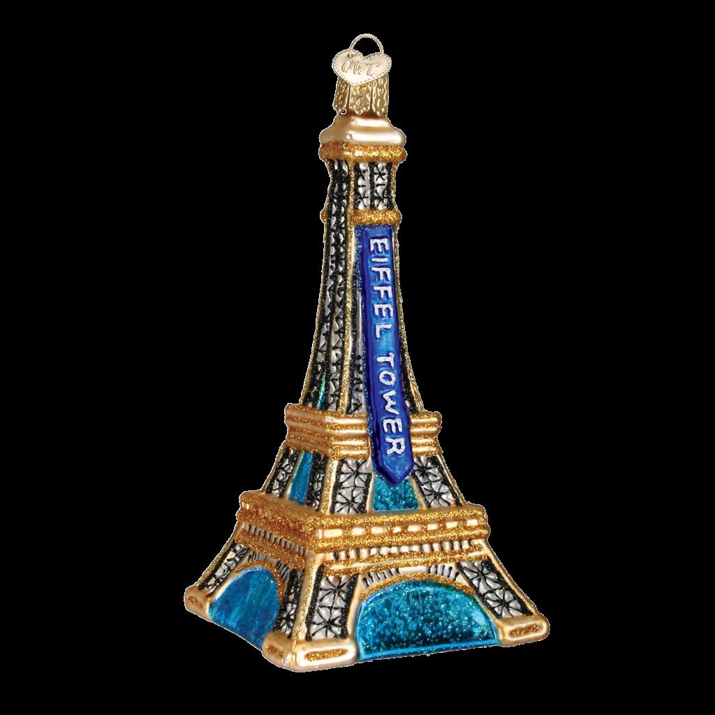 Ornament - Blown Glass - Cities -  Paris/Eiffel Tower