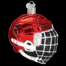 Ornament - Blown Glass - Sports -  Hockey Helmet