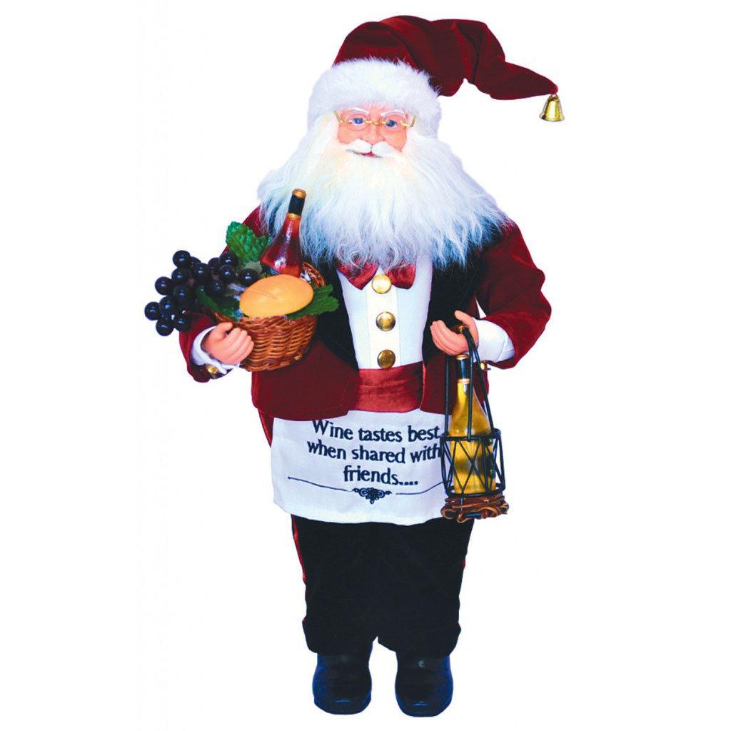 """Santa - Wine Steward- 18"""""""