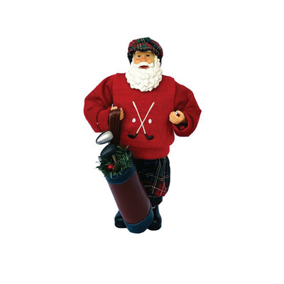 Santa - Golfing Red Sweater- 12""