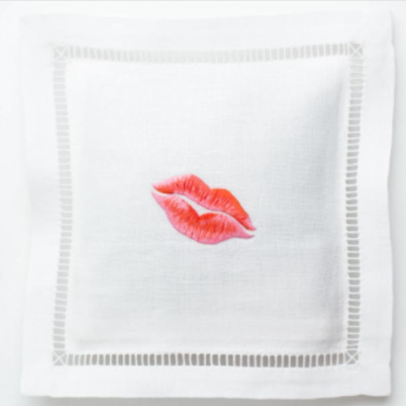 Henry  Handwork Sachet - White Linen Square -