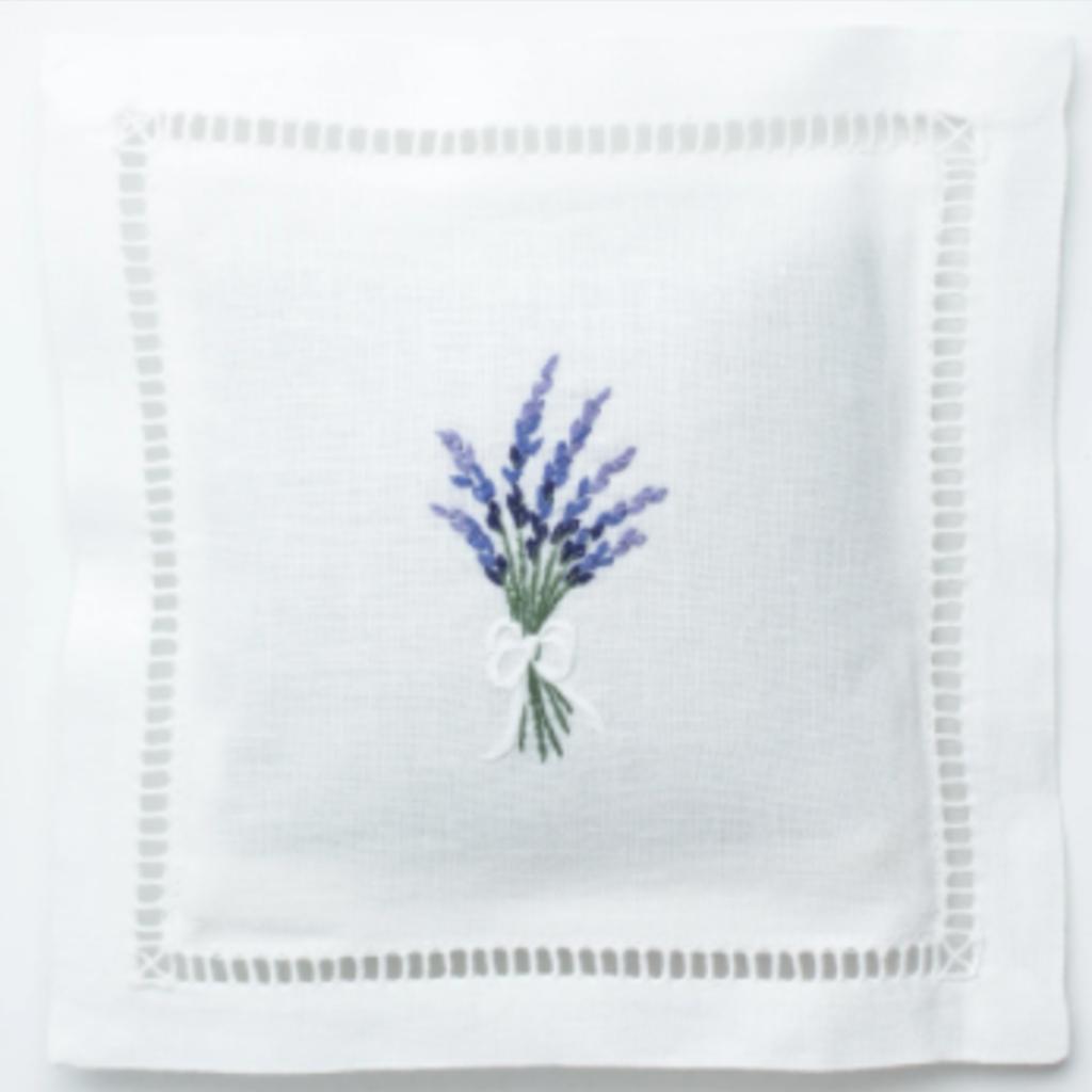 Sachet - White Linen Square -