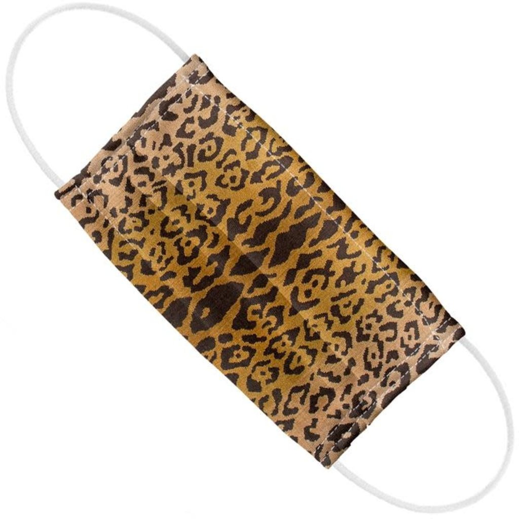 Face Mask  -  Scalamandre - Leopardo - Ivory/Gold