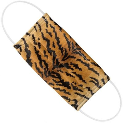Face Mask  -  Scalamandre - Tigre - Ivory/Gold