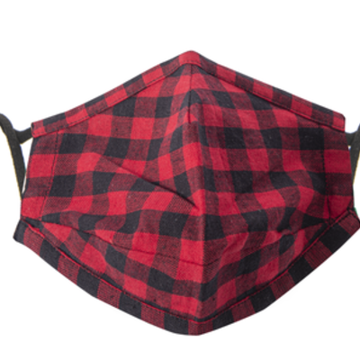 Face Mask - Buffalo Plaid - Red & Black