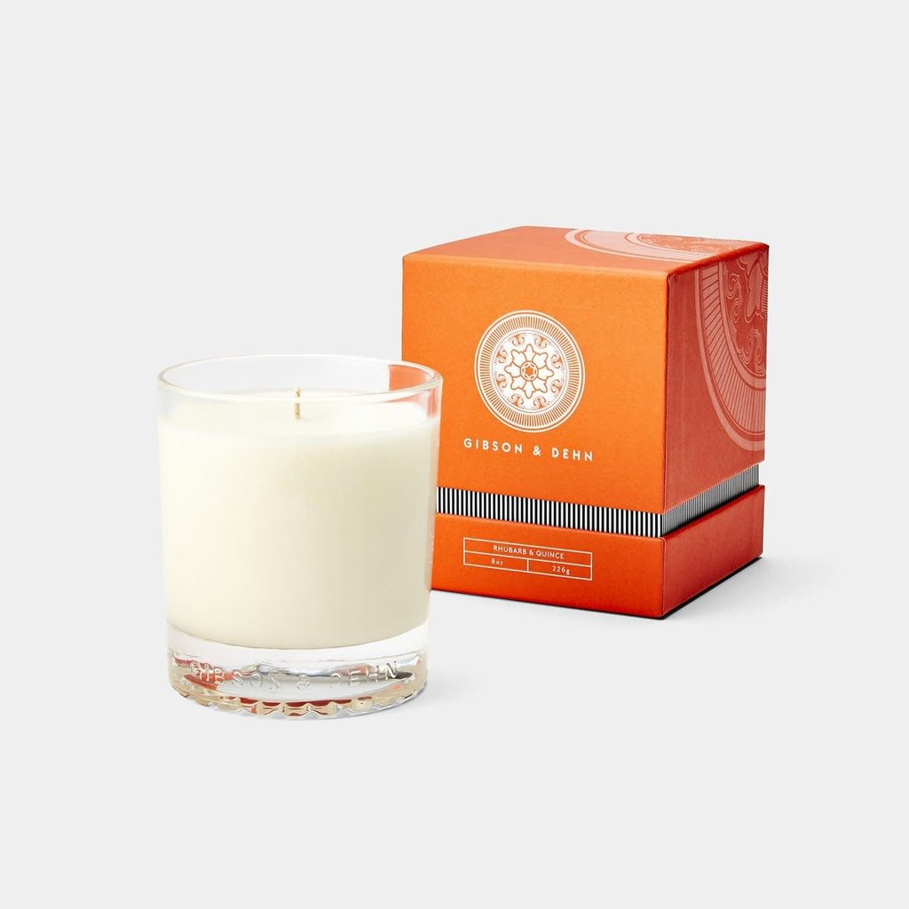Gibson & Dehn -  8 0z Candle - Promenade - Rhubarb & Quince