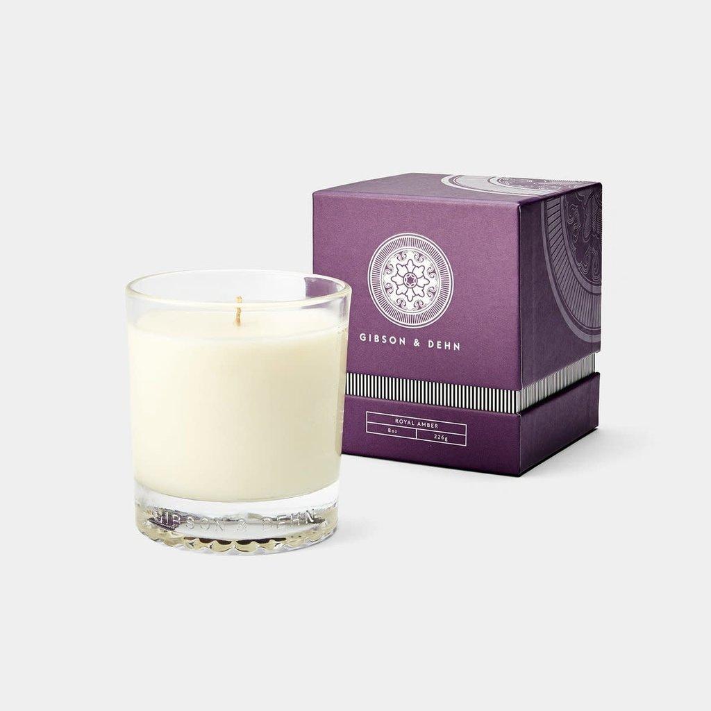 MH Gibson & Dehn -  8 0z Candle - Royal Amber