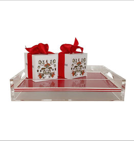 MH Tray - Acrylic - 2-Sided Solid - Red & White