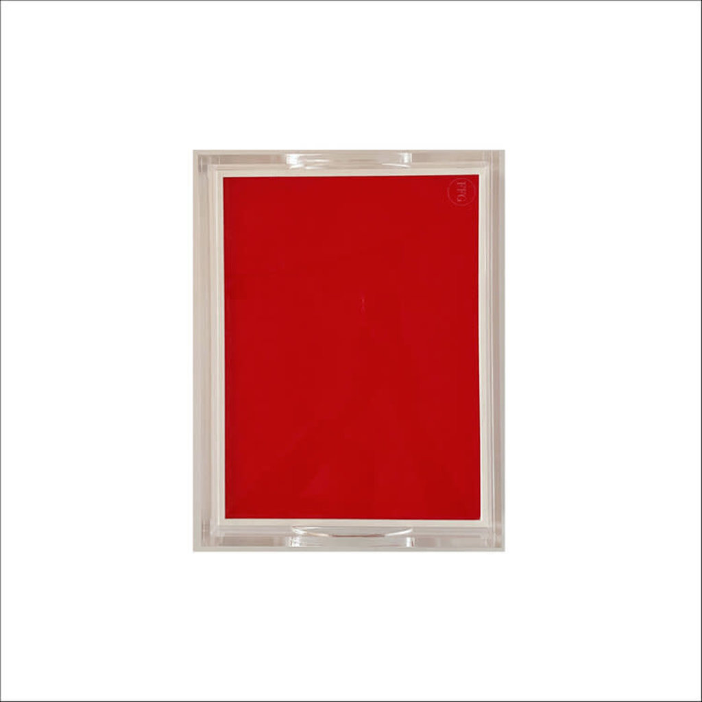 Tray - Acrylic - 2-Sided Solid - Red & White