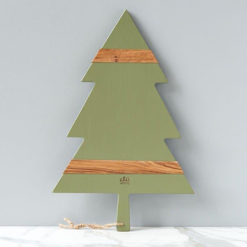 "etuHOME Charcuterie Board - Mod Tree - Large 24""L - Sage"