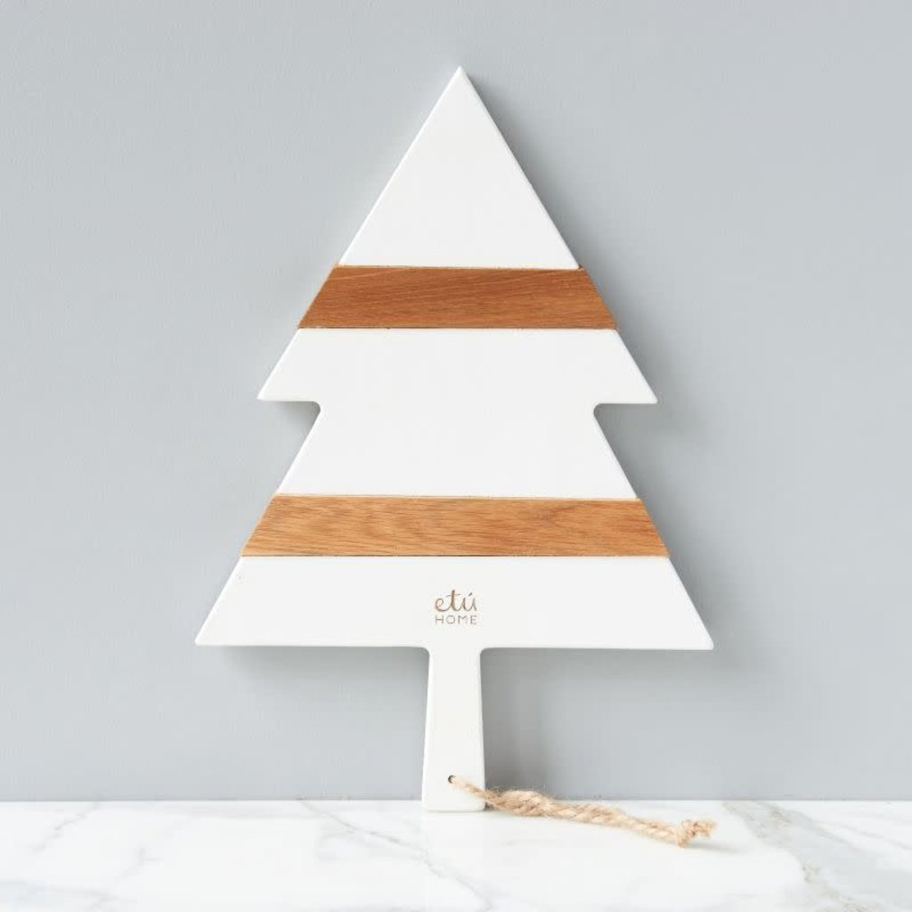 "Charcuterie Board - Mod Tree - Small 15.7""L - White"
