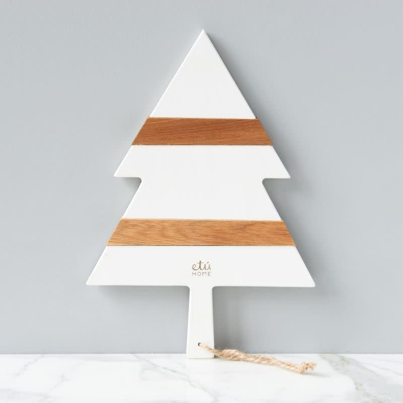 "etuHOME Charcuterie Board - Mod Tree - Small 15.7""L - White"