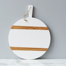 Charcuterie Board - Round - Medium - White