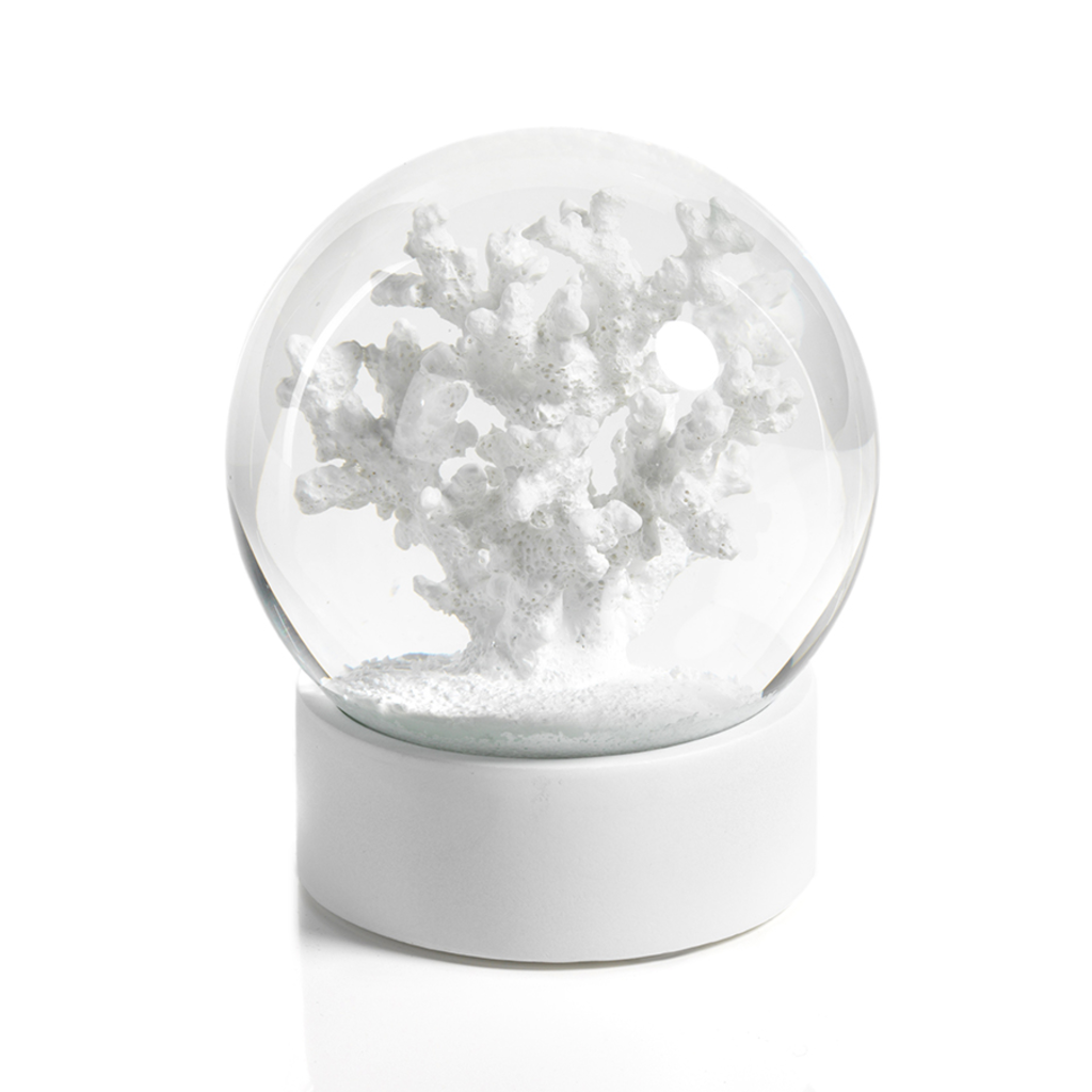 Water Globe - White Coral