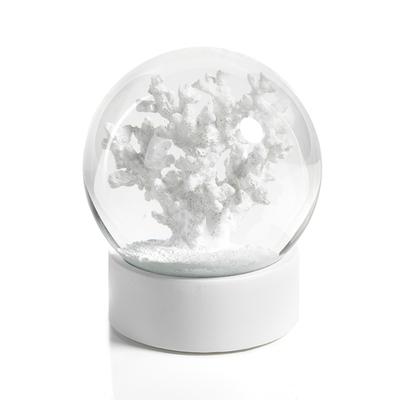 Water Globe - White Coral