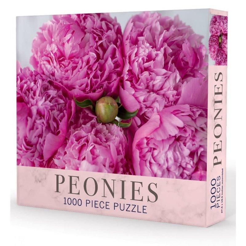 "MH Puzzle - Peonies - 1000 Pieces - 27.5"" x 19.5"""