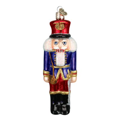 Ornament - Blown Glass - Nutcracker - Blue Coat