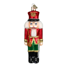 Ornament - Blown Glass - Nutcracker - Red Coat