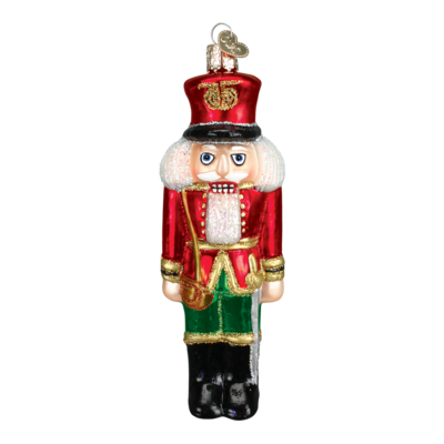 Ornament - Blown Glass - Nutcracker - Red Coat