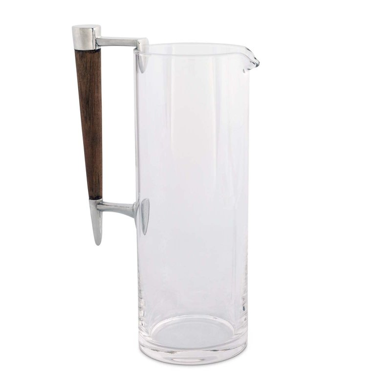 Vagabond House Pitcher - Martini - Tribeca - Glass, Wood & Pewter