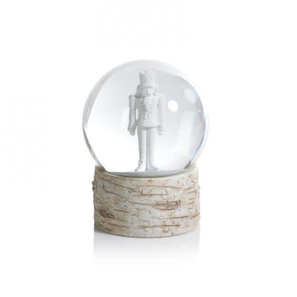 Snow Globe on Birchwood Base -