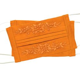 Face Mask - Jardin -  Orange on Orange