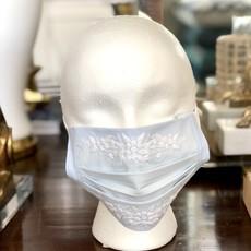 MH Face Mask - Jardin -  White on Sky Blue
