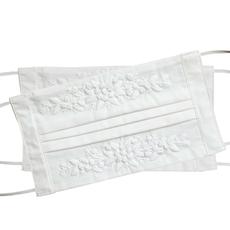 Face Mask - Jardin -  White on White