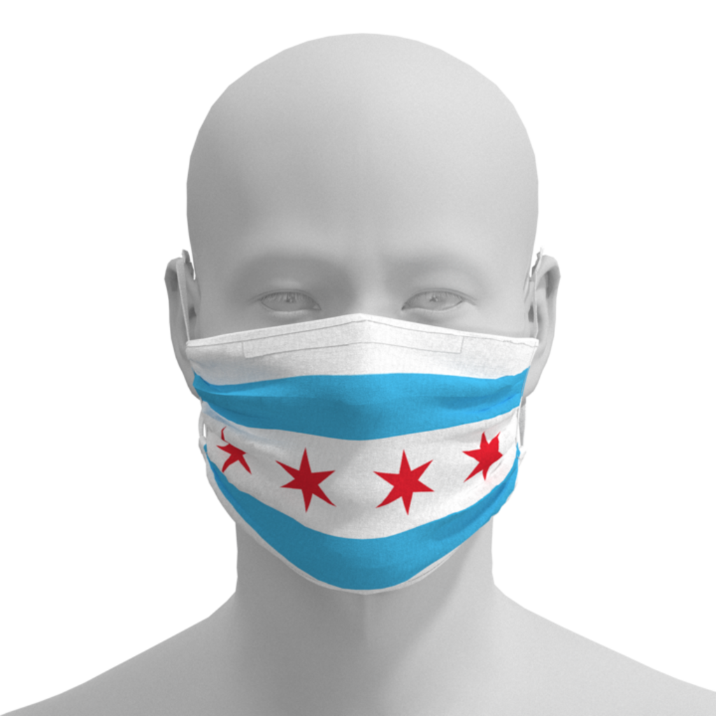 MH Face Mask - Chicago Flag - Adult, kids, toddler