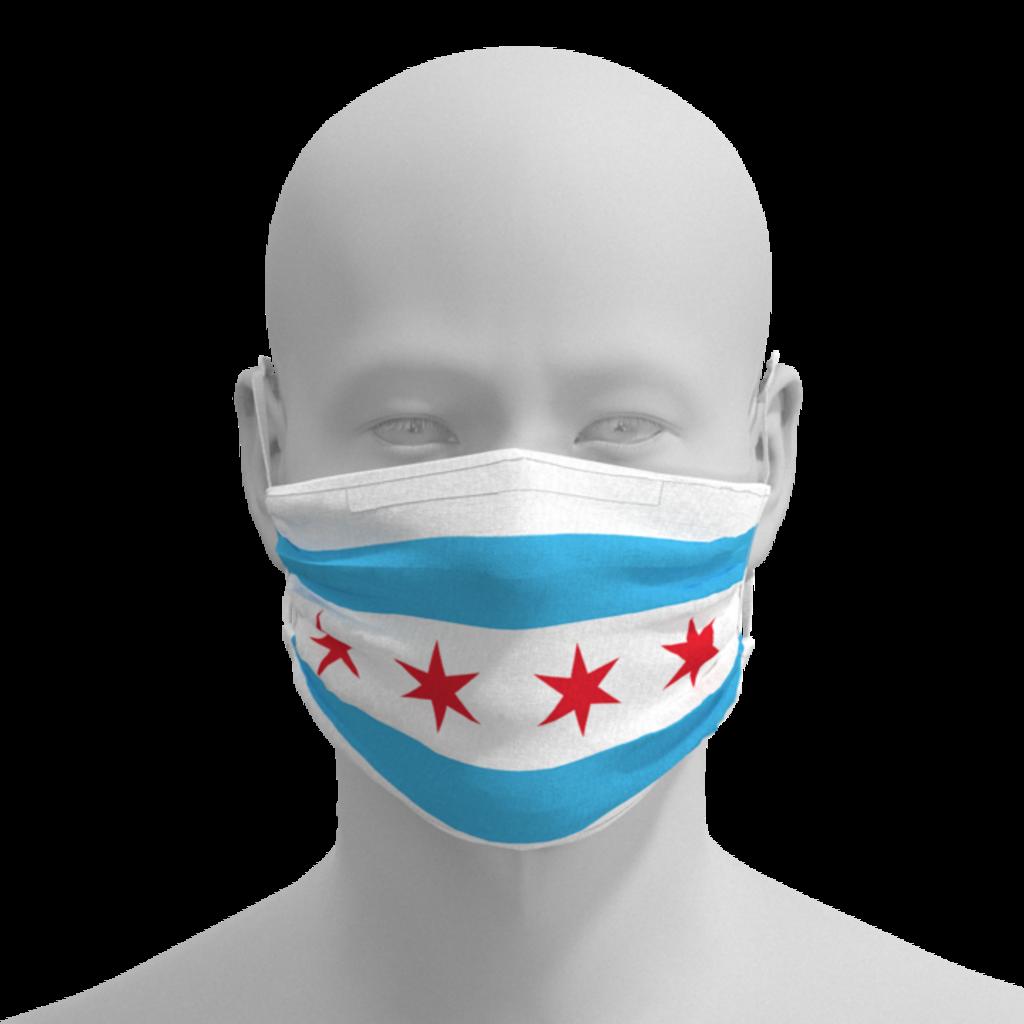 Pride Masks - R&S Marching Arts Face Mask - Chicago Flag - Adult, kids, toddler