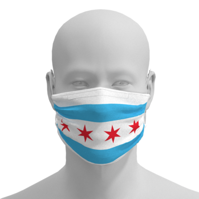 Face Mask - Chicago Flag - Adult, kids, toddler