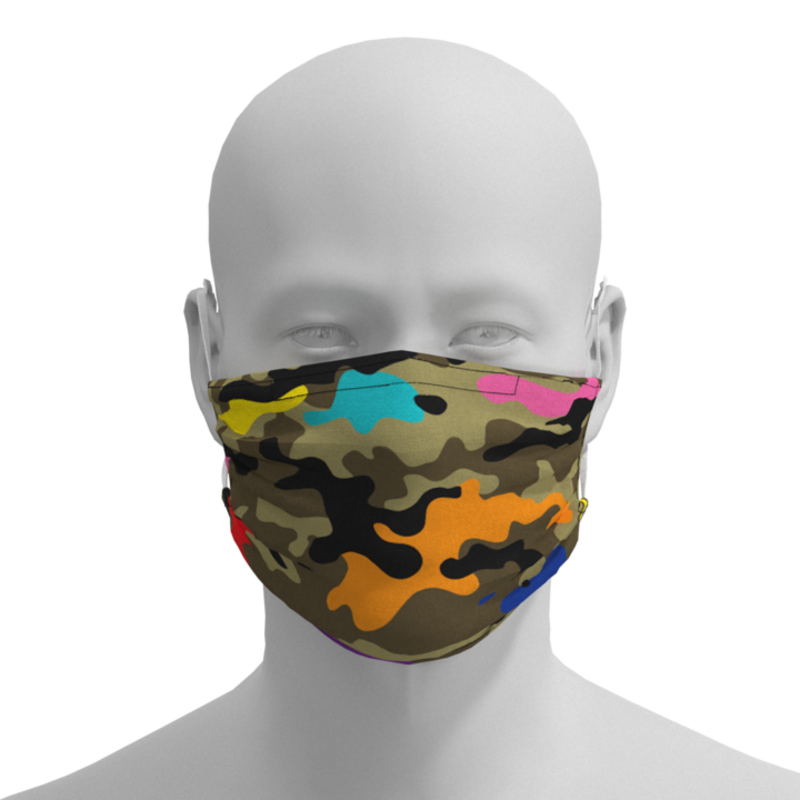 Pride Masks - R&S Marching Arts Face Mask - Camo - Adult, Kid, Toddler